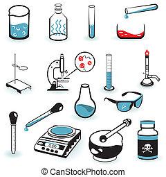 Laboratory Icons - vector illustration version.