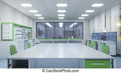Laboratory interior. 3d illustration