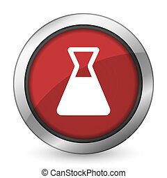 laboratory red icon