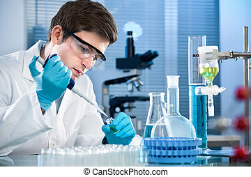 Laboratory - scientist working at the laboratory.