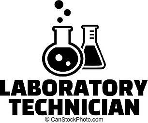 Laboratory technician with test tubes
