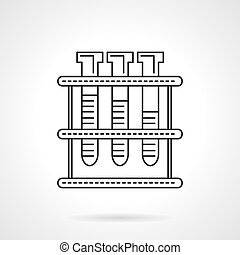 Laboratory tests flat line vector icon