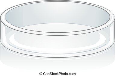Laboratory Tools Petri Dish - Science Themed Illustration...