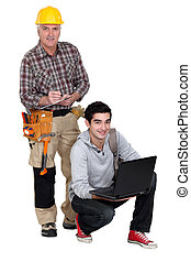 Laborer and young student