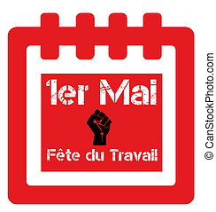Labour day 1st may in French