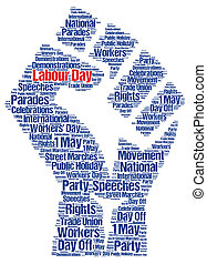 Labour day 1st may word cloud