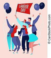 Labour day poster - International labor day on may, happy...