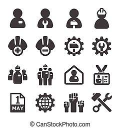 labour icon - labour,crew icon set