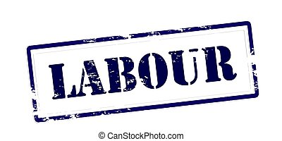Labour - Rubber stamp with word labour inside, vector...