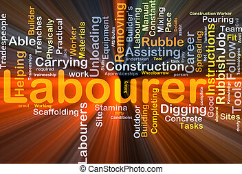 Labourer background concept glowing