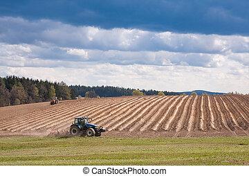 labourer, tracteur, classé