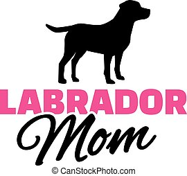 Labrador Mom with dog silhouette