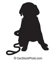Labrador Puppy Silhouette