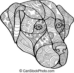 Labrador Retriever Mandala - Mandala style illustration of a...