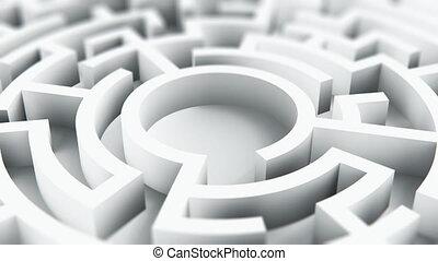 labyrint, doolhof, cirkel, ronde