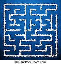 labyrint, illustration