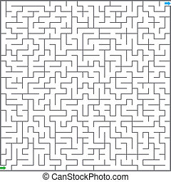 labyrint, illustration, vektor