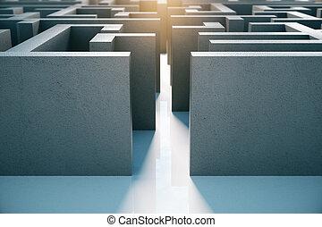 labyrint, ingang