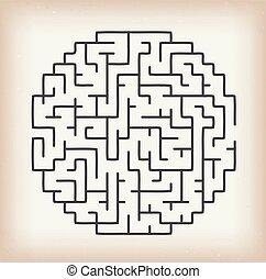 labyrint, lek, bakgrund, årgång