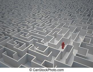 labyrint, mistede