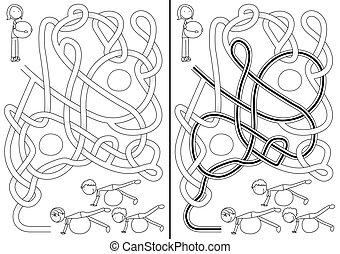 labyrint, pilates, klassificera