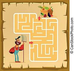 labyrint, spel, kinderen