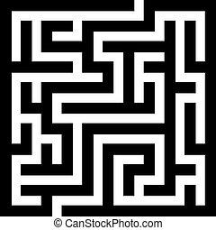 labyrint, vektor