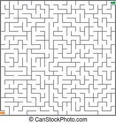 labyrint, vektor, illustration