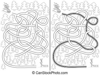 labyrint, vinter