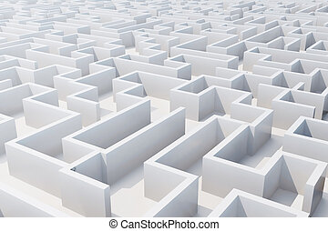 labyrinth., 上, レンダリング, 白, 光景, 3d