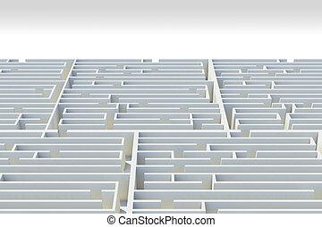 labyrinth, auge, 3d, ansicht