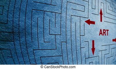 labyrinth, begriff, kunst