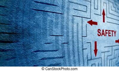 labyrinth, begriff, sicherheit