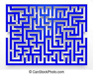 Labyrinth Maze.3D Top view.