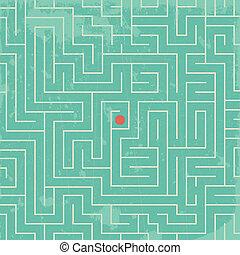 Labyrinth - Grunge geometric pattern