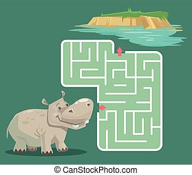 Labyrinth game for children