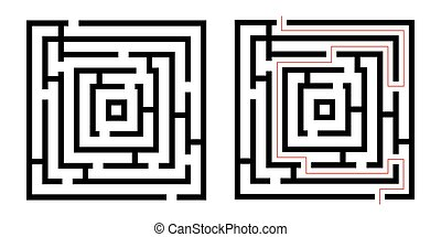 Labyrinth , game maze. Isolated on white background