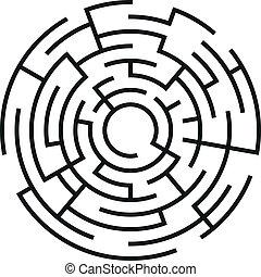 abstract vector maze