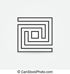 Labyrinth line icon