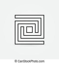 Labyrinth line icon
