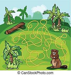 Labyrinth maze for kids