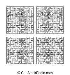 Labyrinth maze game set