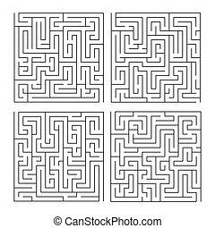 Labyrinth maze game set for children