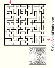 Labyrinth maze game with solution. Find path