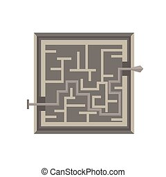 Labyrinth maze vector game illustration isolated exit icon shape