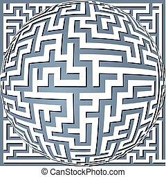 labyrinth meander