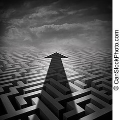 labyrinth, pfeil