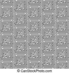 (labyrinth, próbka, seamless, ilustracja, wektor, background), zdezorientować