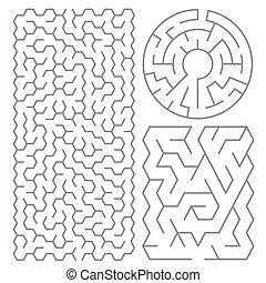 labyrinth, satz, abbildung