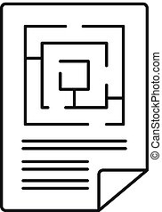 Labyrinth solution icon, outline style